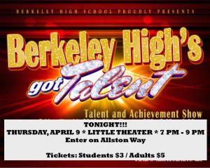 BHS Talent Show Poster